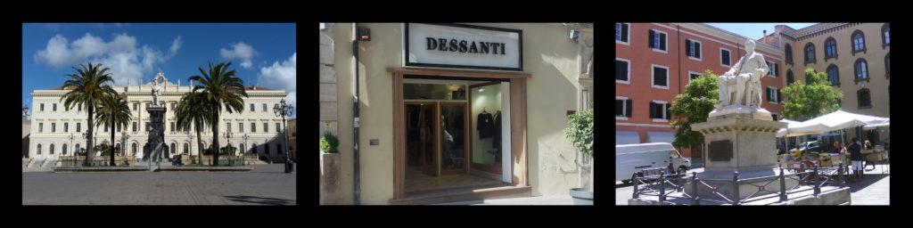 Centro di Sassari, ubicazione Dessanti Moda