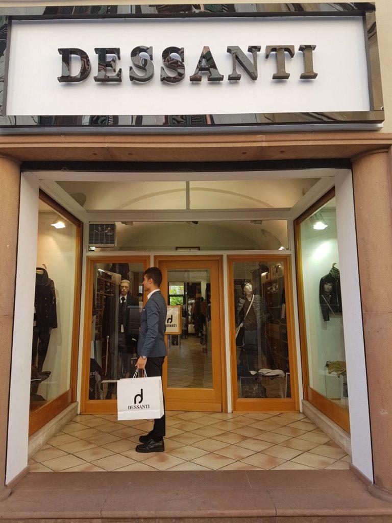 Ingresso abbigliamento Dessanti Sassari